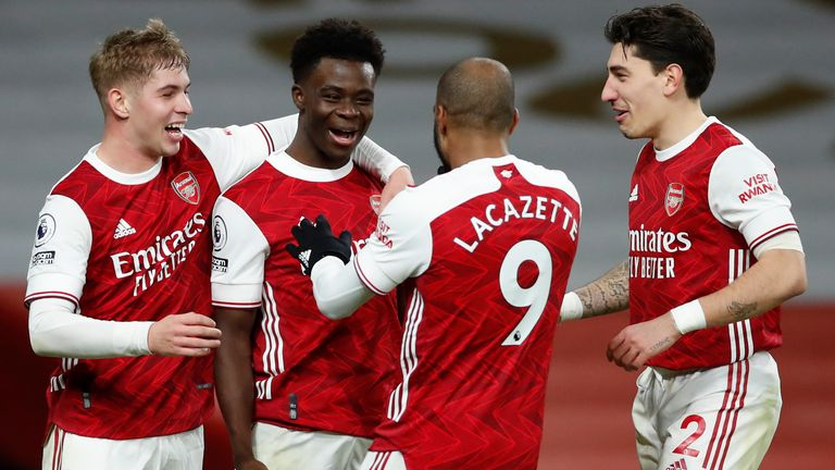 arsenal have won seven of the 10 premier league games smith rowe and saka have started together