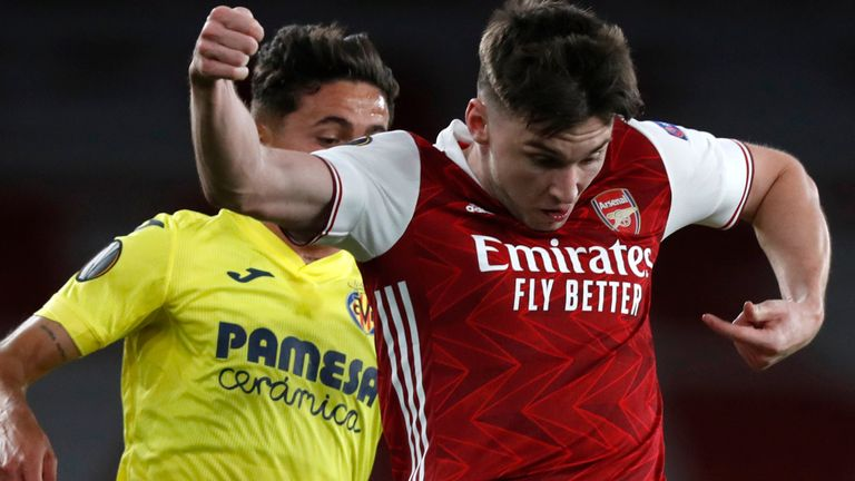 kieran tierney was a late addition to the arsenal xi after an injury to granit xhaka