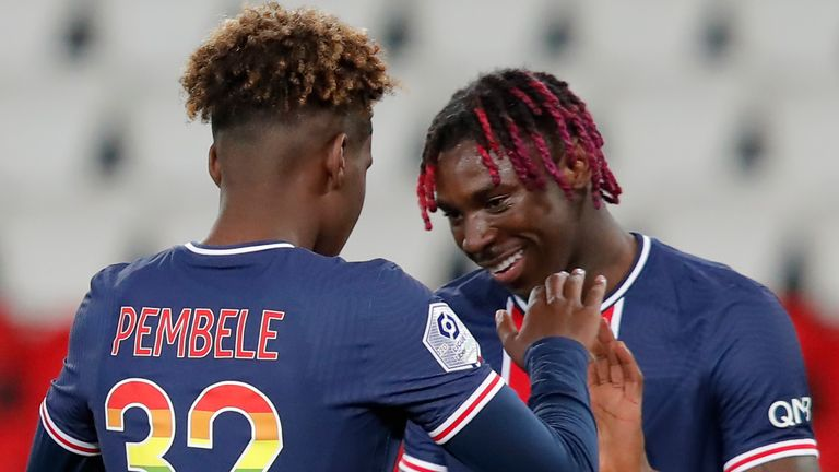 moise kean was also on target for psg