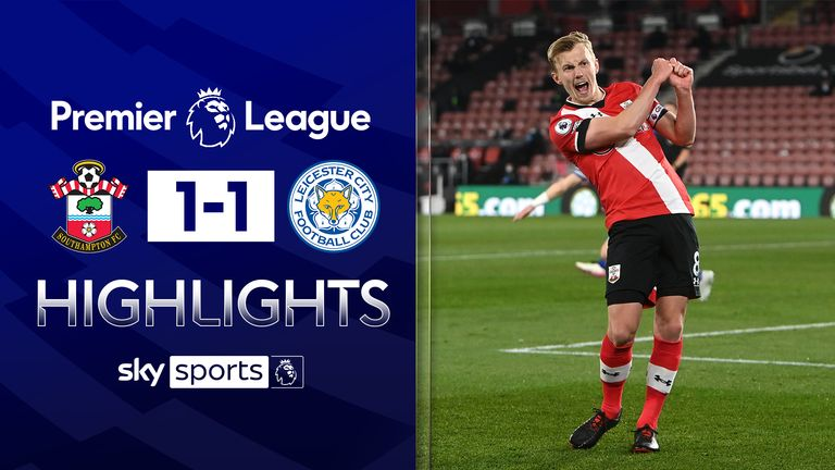 highlights from southampton's draw with leicester