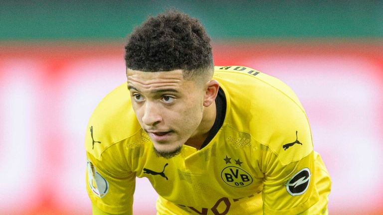 jadon sancho will again miss out on facing his former club manchester city in the champions league