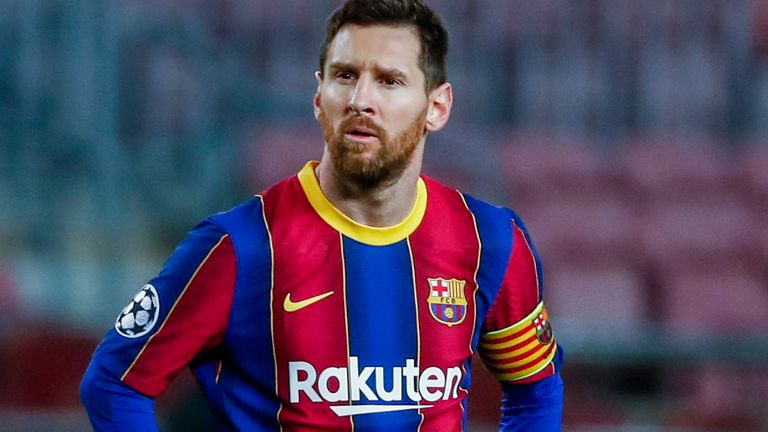 lionel messi is entering the final four months of his barcelona contract