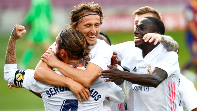 real madrid defeated barcelona 3-1 at the camp nou in october