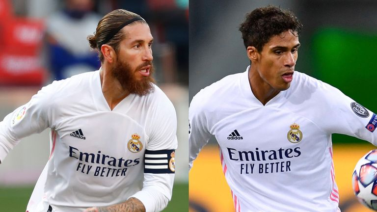 both sergio ramos and raphael varane will be missing from real madrid's defence against liverpool